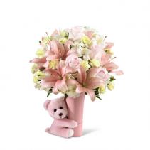 FTD-The Baby Girl Big Hug® Bouquet Vase Bouquet