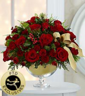 FTD Vera Wang Christmas Fresh Flowers in container