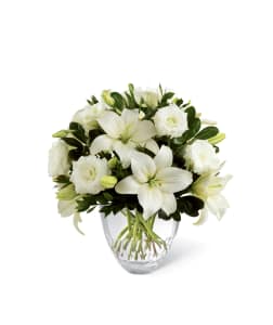 FTD White Elegance  Vase Arrangement