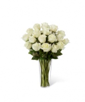 FTD White Rose Bouquet Vase Arrangement