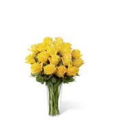 FTD Yellow Rose Bouquet Vase Arrangement