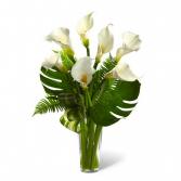 FTD's Always Adored Calla Lily Bouquet Vased Arrangement