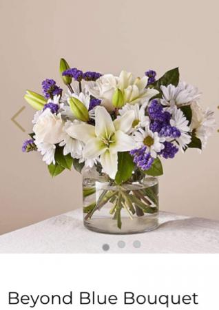 FTD's Beyond Blue Bouquet  Fresh Flower Arrangement with Fresh Flowers