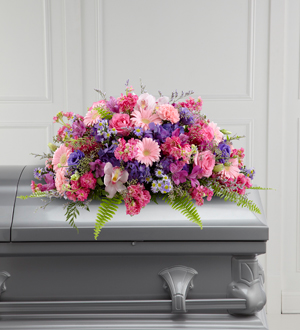 FTD's Glorious Garden Casket Spray