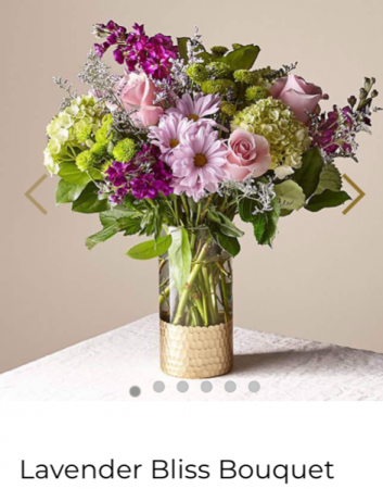 FTD's Lavender Bliss Bouquet  Fresh arrangement in a keepsake vase