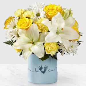 FTD's Tiny Miracle New Baby Boy Bouquet Baby in Thibodaux, LA | BEAUTIFUL BLOOMS BY ASIA