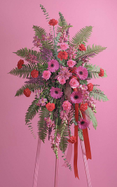 Fuchsia and Red Standing Spray SF 55-31
