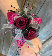 Fuchsia Dreams   Forever Rose Corsage