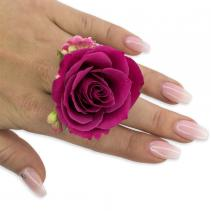 Fuchsia Floral Ring