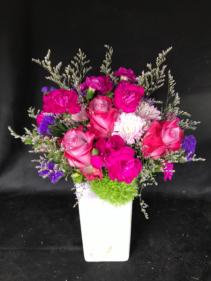 Fuchsia Madness Vase arrangement