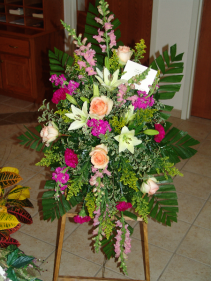 Fuchsia Funeral Arrangement