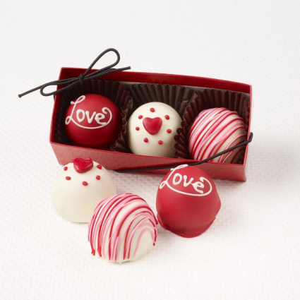 Fudge Love Truffles Valentines