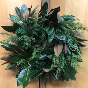 Full and Fresh Green Wreath  in Chattanooga, TN   GRAFE STUDIO