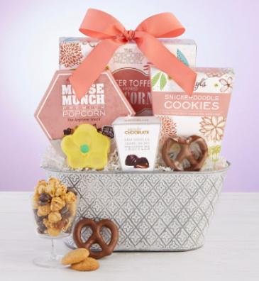 Full Bloom Sweet Treats Basket Gift Basket
