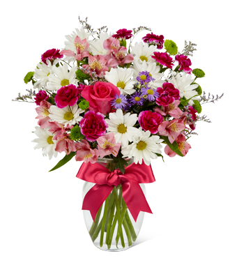 Full Blush -5034 Vase Arrangement