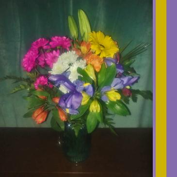 Full Color Splash Bouquet