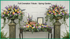 Full Cremation Tribute Cremation urn arrangement in Henderson, TX | RAYFORD FLORIST & GIFTS