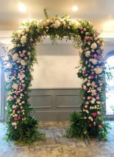 Full Floral Arbor Wedding