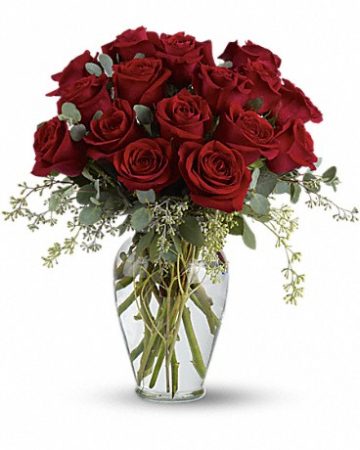 Full Heart 16 Red Roses Bouquet
