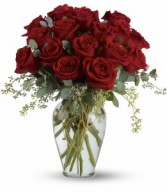 Full Heart T255-3A  16 Red Roses