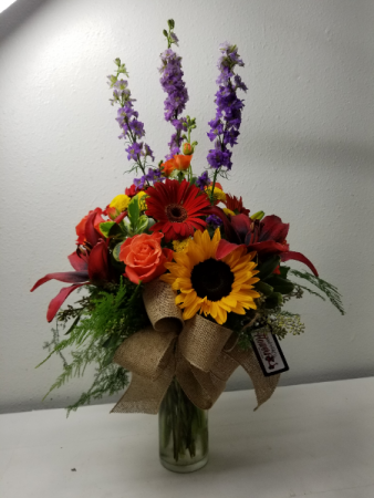 Bright Birthday Colorsl Flower Arrangement