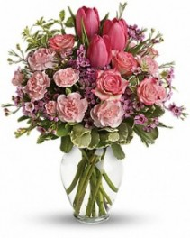 Full Of Love Bouquet Pink, red