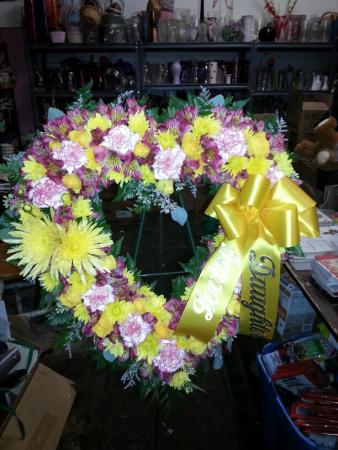 Full of Sunshine Heart Wreath
