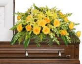 Full Sun Memorial Casket Arrangement