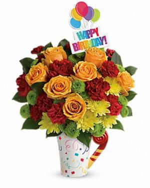 Fun 'n' Festive Birthday Arrangement in Warrington, PA | ANGEL ROSE FLORIST INC.
