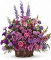 FA 15-Funeral arrangement of mixed flowers  Also available in other colors