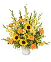 FA 13-Funeral arrangement of mixed flowers Flowers and colors may vary