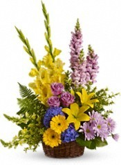 FA 5-Funeral arrangement of mixed flowers Flowers and colors may vary
