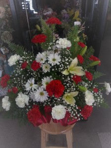 funeral arrangment silk for fresh
