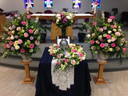 Funeral at Saint Anne's Catholic Church