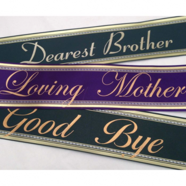Funeral Banner Script  (UP to 3 Words)