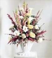 FA 7-Funeral basket of mixed flowers Flowers and colors may vary