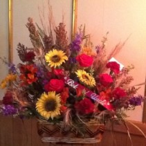 Countryside  Funeral Basket