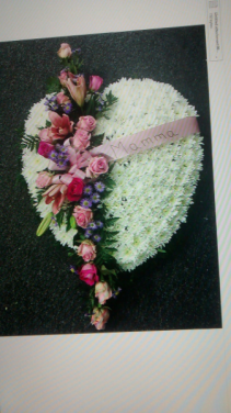 Funeral Bleeding Heart Wreath Funeral Arrangement