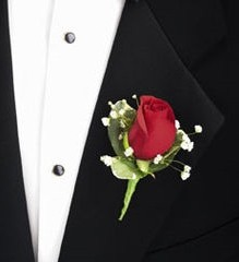 FUNERAL BOUTONNIERE/COURAGE $10.99 In Memorial Dedication/colors AVL in Fairfield, CA   ADNARA FLOWERS & MORE