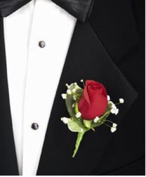 FUNERAL BOUTONNIERE/COURAGE $9.99 In Memorial Dedication/color AVL in Fairfield, CA | ADNARA FLOWERS & MORE
