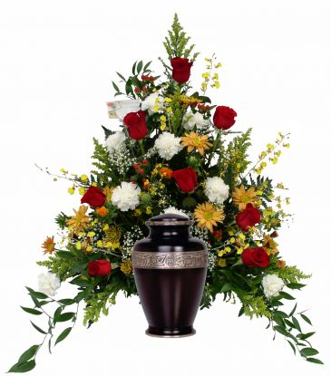 Funeral Flowers For Urn