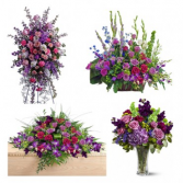 Funeral Flowers Package Purple