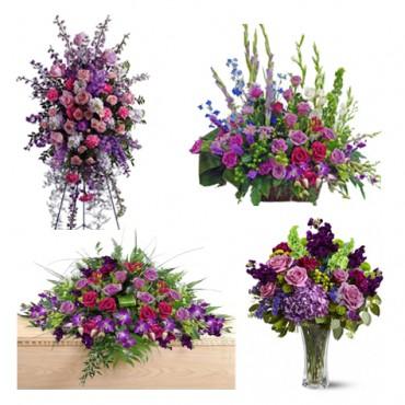 Funeral Flowers Package Purple In Sunrise Fl Florist24hrs Com