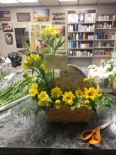Funeral flowers with stone Funeral flowers