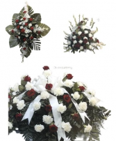 Red & White Funeral Funeral Package