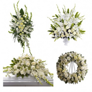 Funeral Package White  in Sunrise, FL | FLORIST24HRS.COM