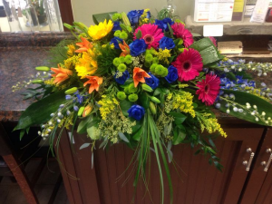 Funeral Spray 78 Same Day Delivery in Oakville, ON   ANN'S FLOWER BOUTIQUE-Wedding & Event Florist