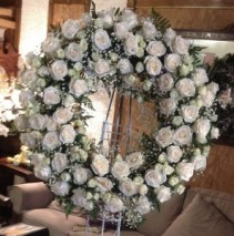 Funeral wreath funeral flowers