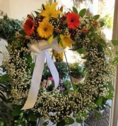 Funeral Wreath Standing Arrangement