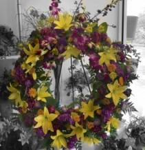 Funeral Wreath Sympathy Arrangement